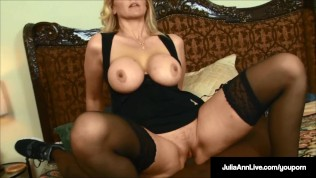 Legendary Milf Julia Ann Calls Rico Shades & Wants His Black Cock In Her pussy & Cum In Her Mouth!