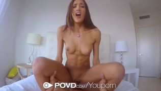 POVD Latin Chloe Amour Slides Her Pussy Juices On Cock