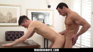 MormonBoyz-Hung muscle daddy breeding young guy at church