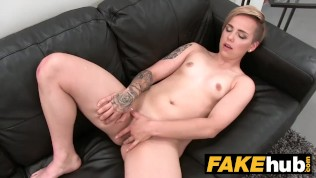 Fake Agent Short Haired Tattoo Babe Banged Hard In The Office PornZek.Com