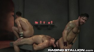 RagingStallion Jaxton Wheeler & Bruno Bernal Sweaty Hardcore 3Way