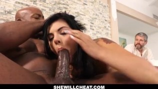 Gina Valentina Fucks BBC While Husband Watches