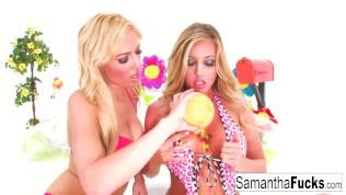 Samantha Saint and Victoria White Fuck