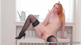 Euro Milf Michelle Russo Fingers Her Shaven Pussy PornZek.Com