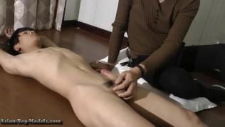 Straight Asian Guy Bound handjobs