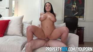 PropertySex – Busty Tenant Addicted To Sex Fucks Landlord