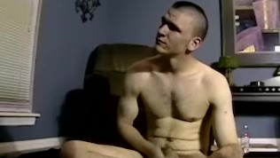 Curious straight guy barebacked passionately by jock friend