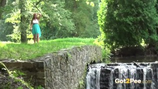 Sexy Babe Pees Near A Waterfall PornZek.Com