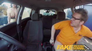Fake Driving School Big boobed Hungarian creampied