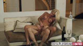 Digital Playground-Hot Blonde Riley Steele, Loves Wine, Netflix And Big Dicks PornZek.Com