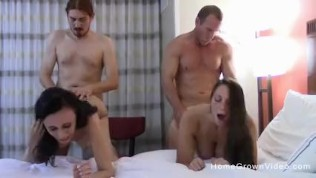 Two Beautiful Ladies Swap Partners In A Swingers Orgy PornZek.Com