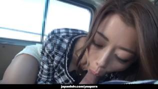 Japanese Woman, Maki Hojo Sucks Dick In A Car, Uncensored PornZek.Com