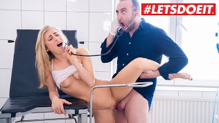 LETSDOEIT - Hot AMERICAN Babe Blows and Bangs GYNECOLOGIST Doctor