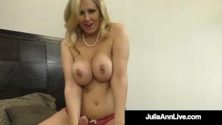 Cock Craving Cougar Julia Ann Gives Lucky Cock Handjob & Bj! PornZek.Com