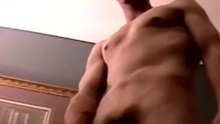 American twink Chance talks before masturbation cumshot