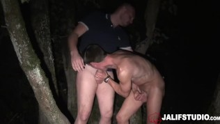 JalifStudio - hot french men fuck outdoors at night in secluded countryside