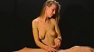 Petite Amateur Blonde Gives A Massage Then A Handjob PornZek.Com