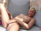 MyDirtyHobby - Hot Blonde masturbating outdoor!
