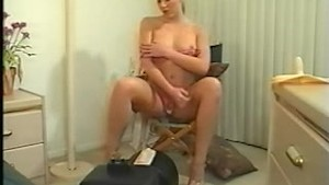 Blond on sex toy part 1 of 5