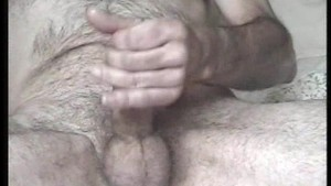 Wanking off close up