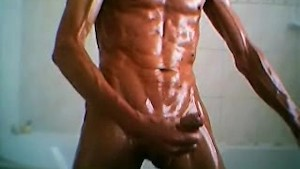 oiled wank again