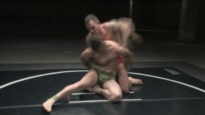 Tough guys wrestle - loser gets fucked!