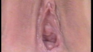 Closeup open vagina