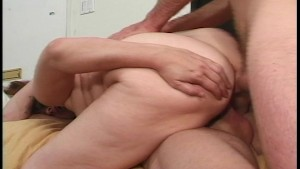 Heavy-set mature woman shows she can handle two! Go girl.