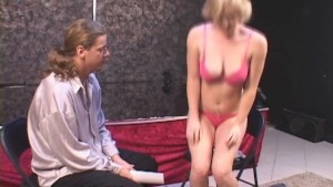 Cropped Blonde Coed Is a Cock Dazzler