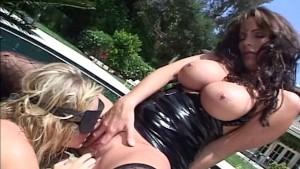 Lingerie lesbians licking wet pussy