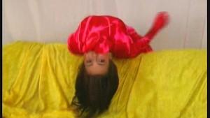 Edita in magic red fullbody spandex