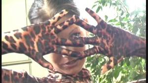 Sweet girl in tiger spandex