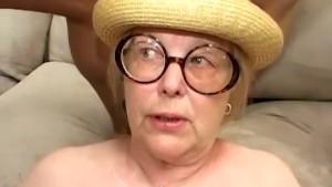 Saggy granny gangbanged