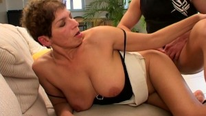 Brunette gives tight hand and blowjob