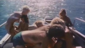 Ginger Lynn in wild orgy on boat