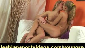Skinny girl gets seduced by lesbian instructor