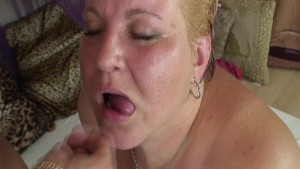 BBW and Young Blonde Stud