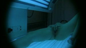 Hot Chick in a Tanning Bed