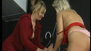 Two hot chicks tag team lucky guy part 1