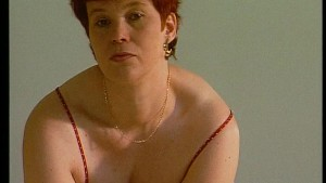 Redhead wearing red (CLIP)