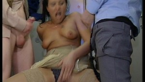 Gangbang in the locker room - DBM Video