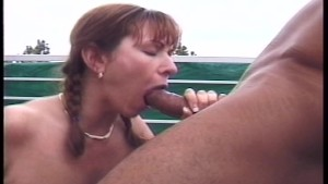 Jerking off right into her mouth