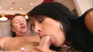 Anal sex and ass to mouth in ripped stockings
