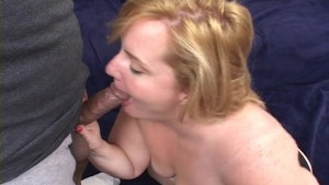 Horny gal in a threesome