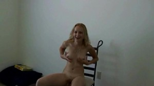 Nasty amateur babe dancing and playing with toy