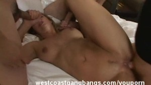 Brenda James Enjoying Gangbang