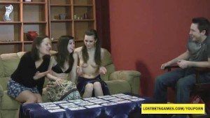 3 amateur cuties playing Strip Memory