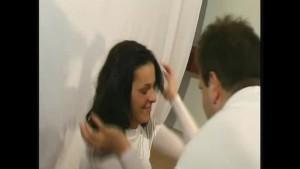 Glamour nylon fetish girl flexible (clip)