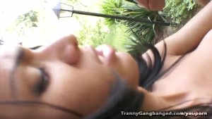 Six Trannies Gang Bang Lucky Stud