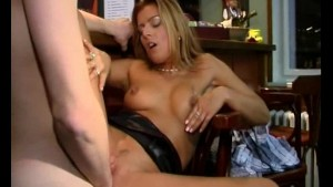 Hot MILF fucked while having a drink at a bar